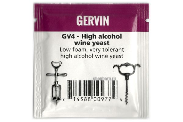 Винные дрожжи Gervin GV4 High Alcohol Wine